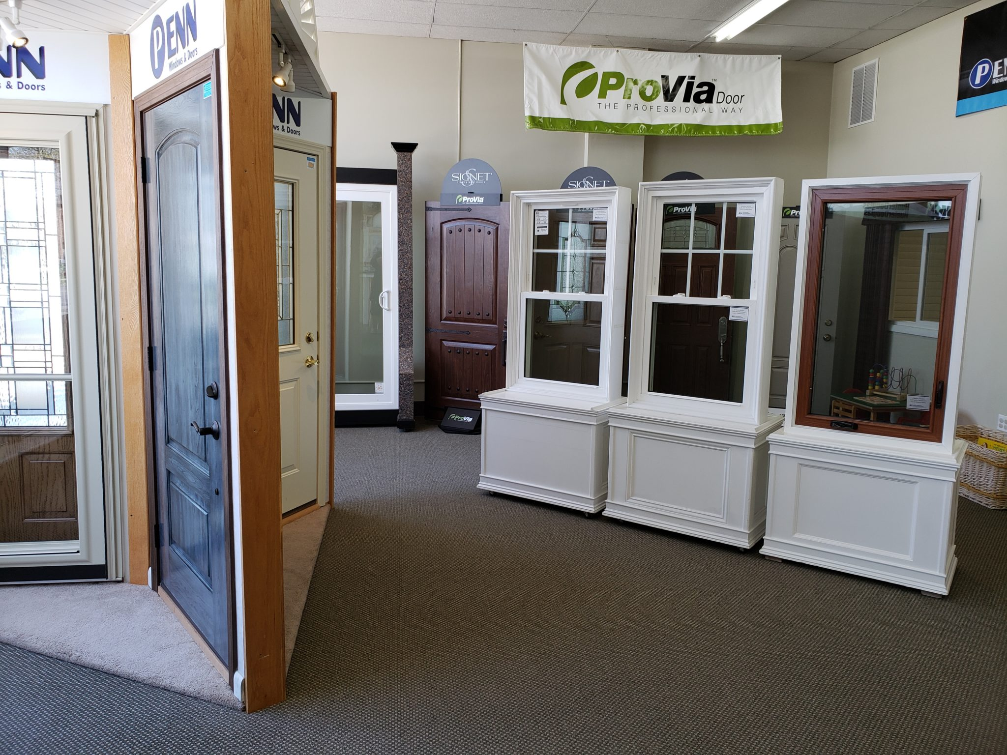 Penn Windows & Doors showroom